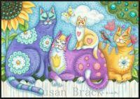 Sweet kitty family by Susan Brack