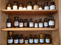 The old times Museum Aalten.  An apothecary - nearer view
