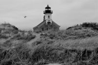 North Light, stormy day on Block Island