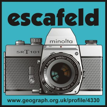 My Geograph avatar containing the drawing of my camera, which I drew in Corel Draw v:10