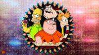 american_dad_futurama_the_simpsons_family_guy_by_kenann827-da5o7eb