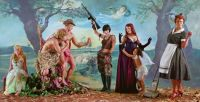 Eleanor Antin - Judgment of Paris (after Rubens) - Light Helen from 'Helens Odyssey' (2007)