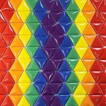 Raindow mosaic triangles