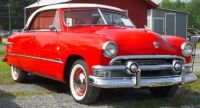 1951 Ford Victoria Red and White