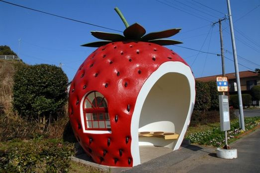 Strawberry Bus Stop