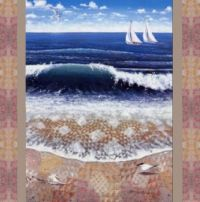 Ocean Waves  Quilt Art
