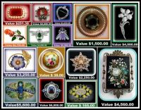 Theme - Antiques - Antique Brooches with Seller's Values