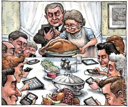 Cell Phone Thanksgiving