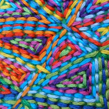 Colorful embroidery...