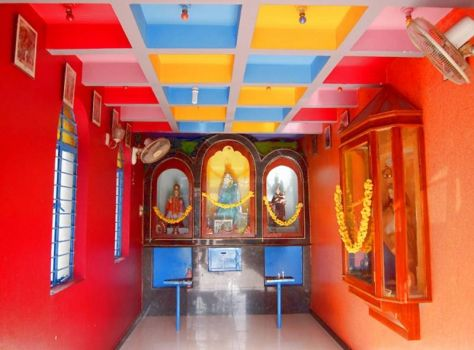 Colorful Interior of Indian Chapel