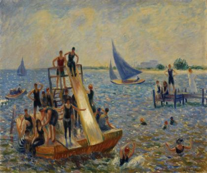 William James Glackens--The Raft, 1915