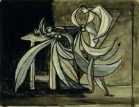 Oscar Domínguez: Mesa y personaje, 1944