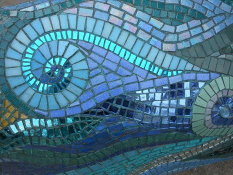 "Detail of mosaic from ""The Pig of Bath""!! (View 2)"