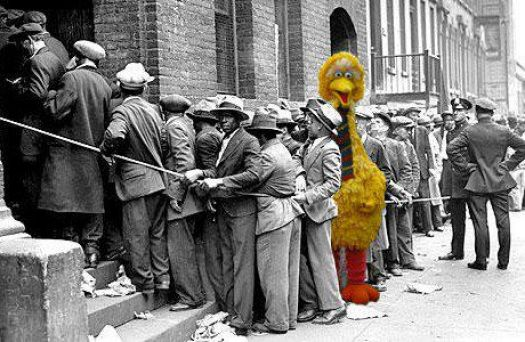 Big Bird on the unemployment line??