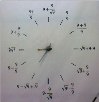 Clock for smart people