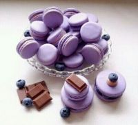 Blueberry & Chocolate Macarons