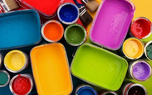 colorful oil paints