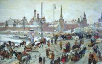 Konstantin Yuon. 'Moskvoretsky Bridge. Old Moscow'. 1911