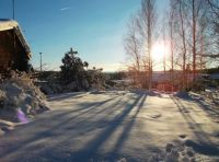 Winter sun in Fagersta