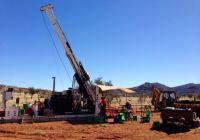 Diamond drilling in progress