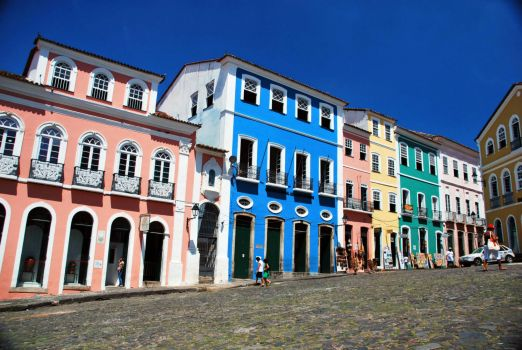 Colorful Street - Pelourinho in Historic Center