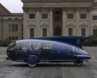 A futuristic-looking 1938 Dymaxion, designed by American inventor Buckminster Fuller.jpg