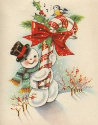 Christmas Vintage Snowman