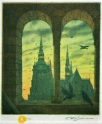T.F. Simon - Cathedral (Prague) Seen From Tower Of Basilical of St. George - 1916