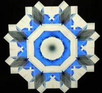 Quilt square blue and white . . . . .