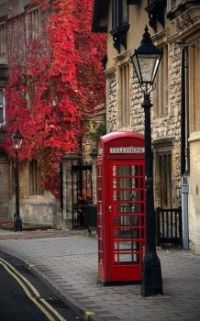 Never been to England, sure miss the phone boxes,  fall