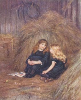 In the Hayloft by Helen Allingham