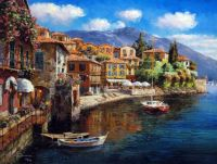 Harbor at Varenna by Sung Sam Park