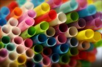 coloured straws