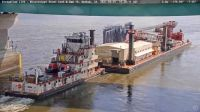 Quincy-Quad Cities - US Army Corps of Engineers Towboat & Crane Barge - Keokuk, IA (2021-09-01)