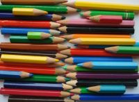 old coloured pencils