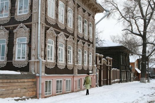 Wooden mansion, Tomsk, Russia