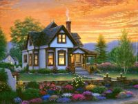 Cottage In The Sunset