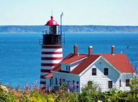 Theme Lighthouses: West Quoddy Head, Maine