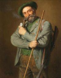 Eduard von Grützner (German, 1846–1925), The Hunter