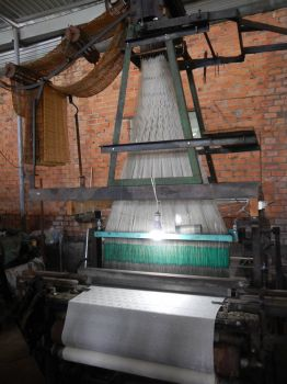 Silk production, Vietnam. Making the cloth.