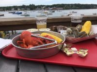 Lunch on the coast of Maine
