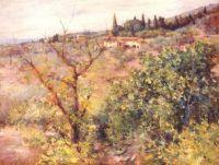 Chase William Merritt: Vista de Fiesole, 1907