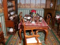 dinning room of Christmas doll house