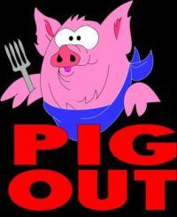 PIG OUT CLIP ART 159