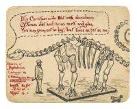 Dinosaur Christmas Card, c.1870s
