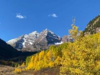 Maroon Bells from Crater Lake, Aspen, Colorado