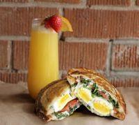 Mimosa and Breakfast Sandwich Round