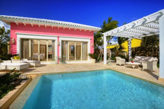 pink pool house