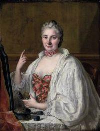 18th century Anne de La Grange-Trianon by Circle of François-Hubert Drouais