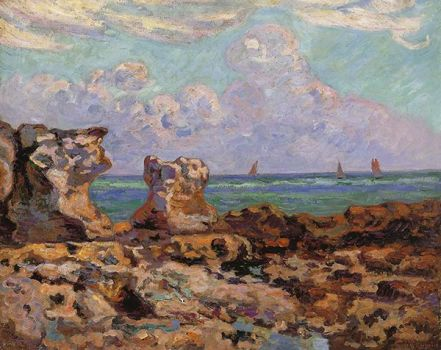 Low Tide, Saint-Palais-la-Pierriere by Armand Guillaumin